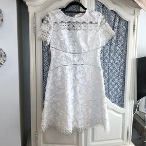 Elle tahari white floral lace dress Adina